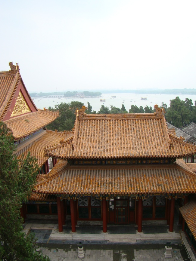 Looking out over the Summer Palace courtyard