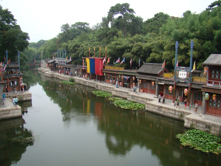 This canal filled street is known as Suzhou Steet.