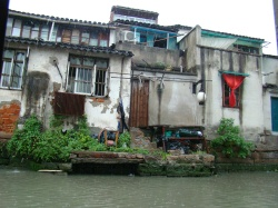 Houses along the waterway