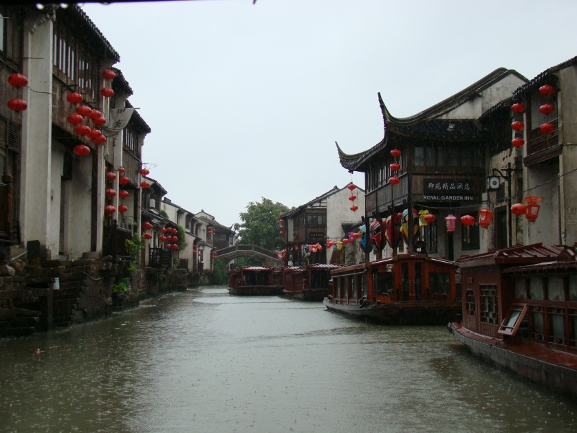 Braving the Typhoon to see the famous waterways of Suzhou