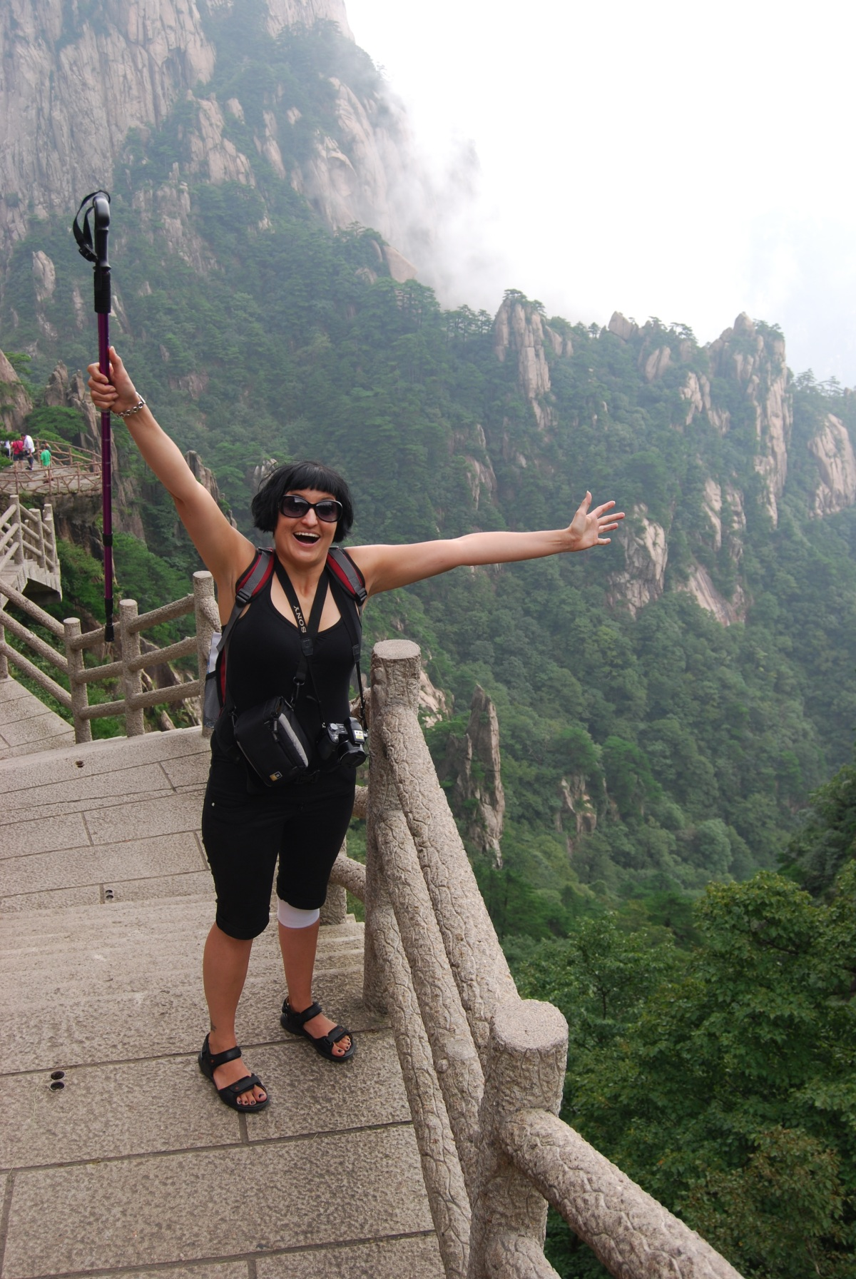 Hiking  the famous Yellow mountain of China was breathtakingly fabulous but physicallytorturous!!