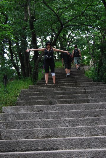 lot of stairs up and down as we crossed the cliffs