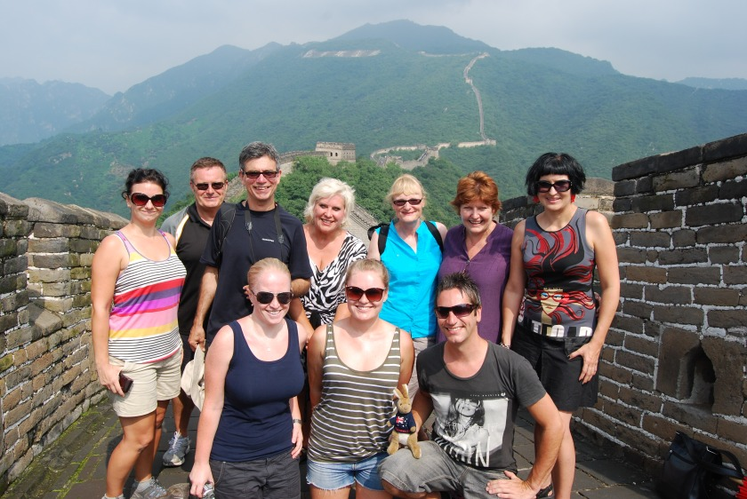 Our China Odessey group on the Great Wall