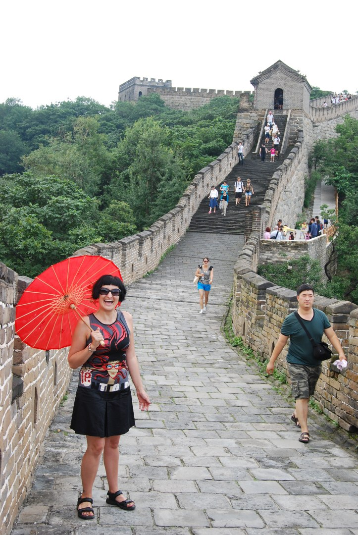 Walking along the Great Wall!!
