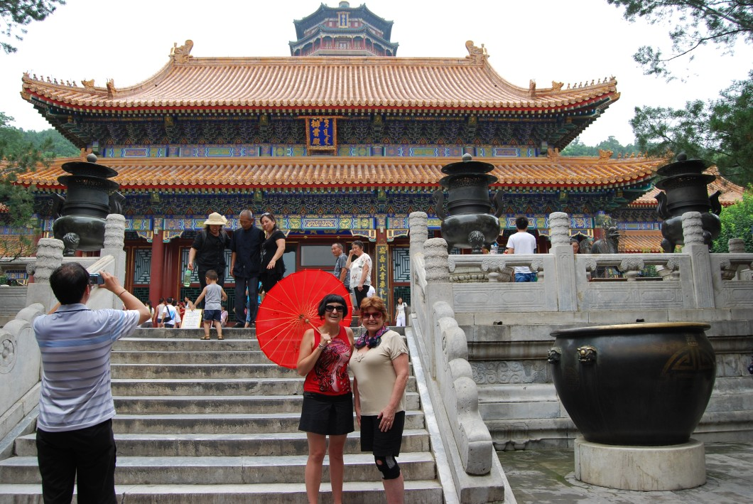 Mom and I infront of the Cloud-Dispelling Hall