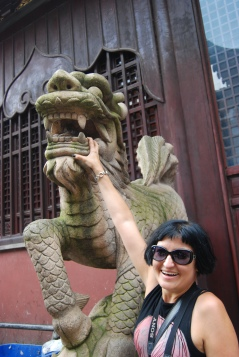 On our way to the Yu Yuan Gardens in Shanghai