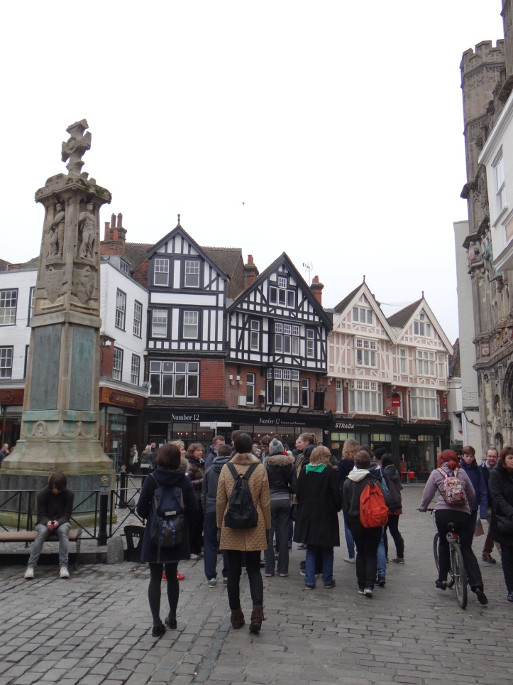Buttermarket which lies in the centre of Canterbury.