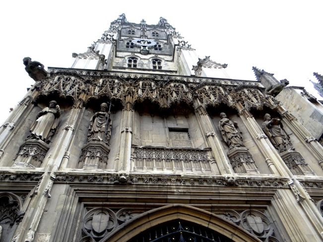 Entering the stunning Canterbury Cathedral