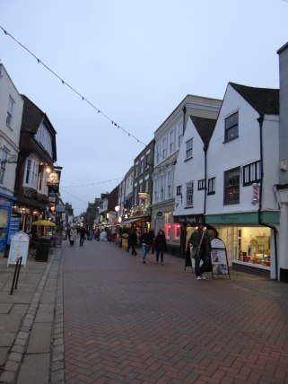 Walking through the streets of Canterbury
