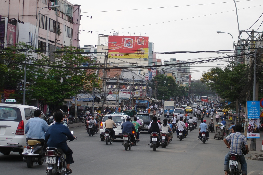 Riding a Motorbike through the Streets of Ho Chi Minh