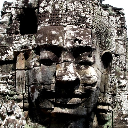 The faces of Bayon at Angkor Wat