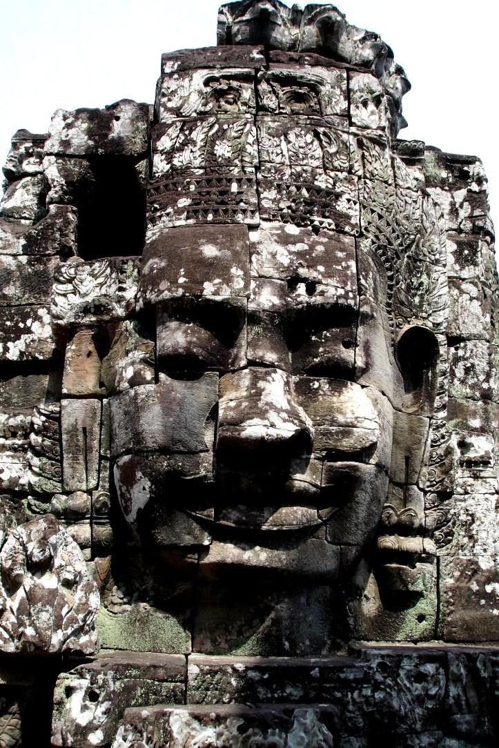 The faces of Bayon at Angkor Wat