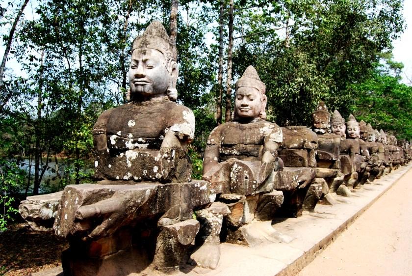Devas protecting the causeway to Angkor Thom