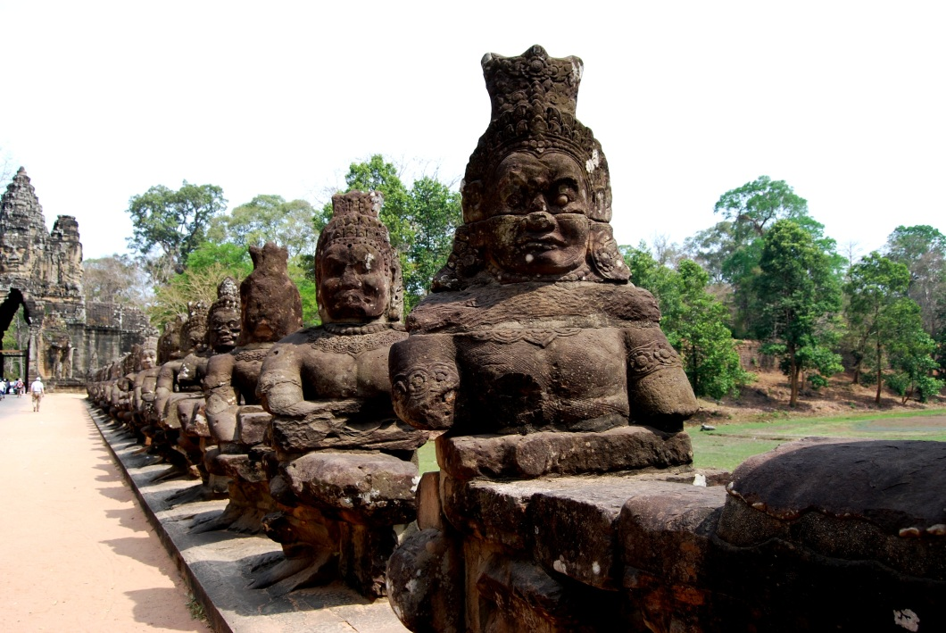 Devas protecting the causeway to Angkor Thom