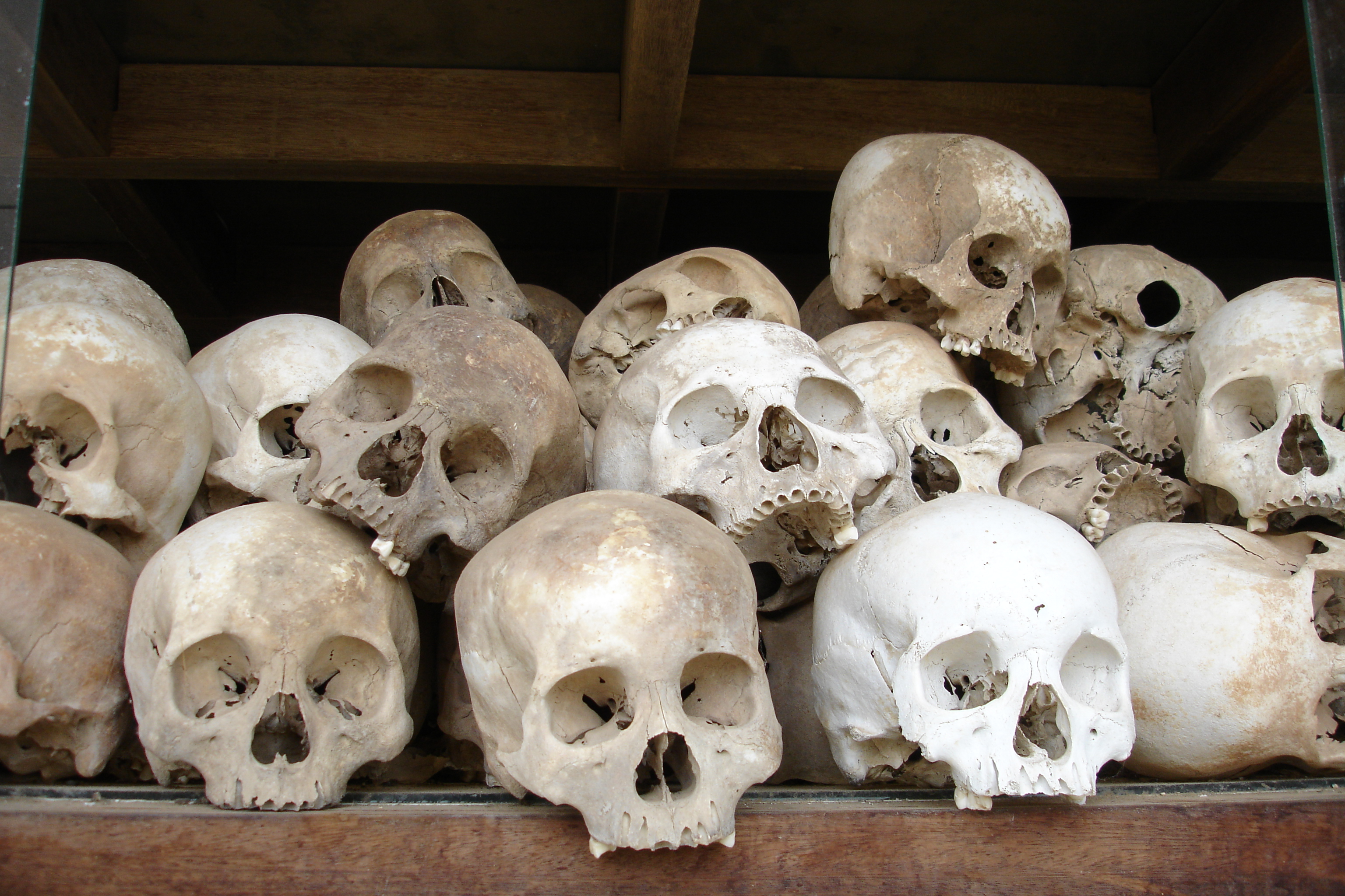 Killing Fields of Phnom Pehn filled with Mass Graves
