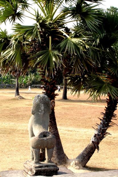 Lions protecting Angkor Wat