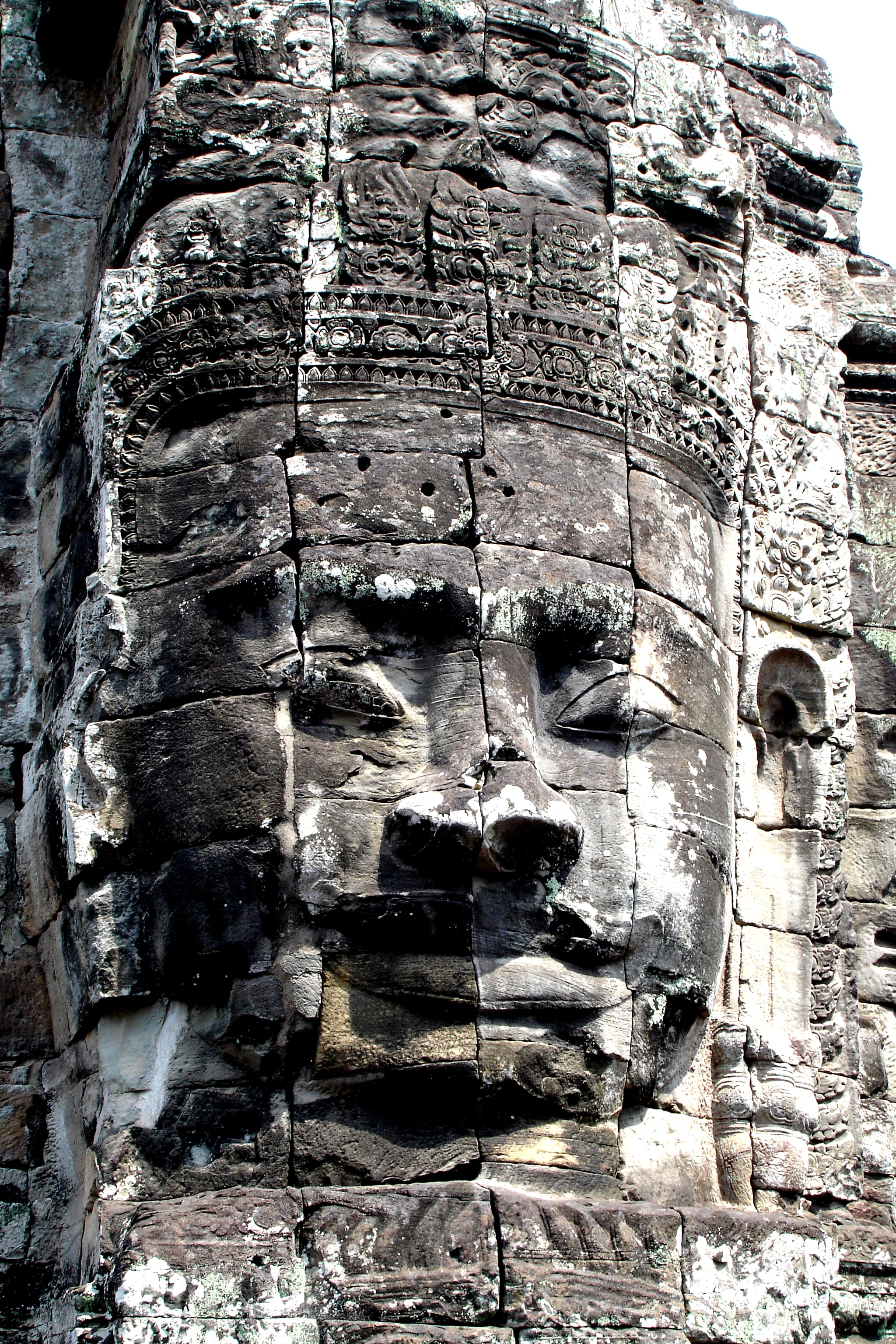 Giant Smiling stone Faces of Bayon