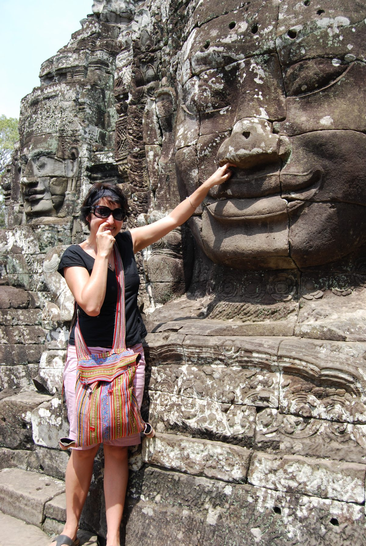 The Giant Smiling stone Faces of Bayon