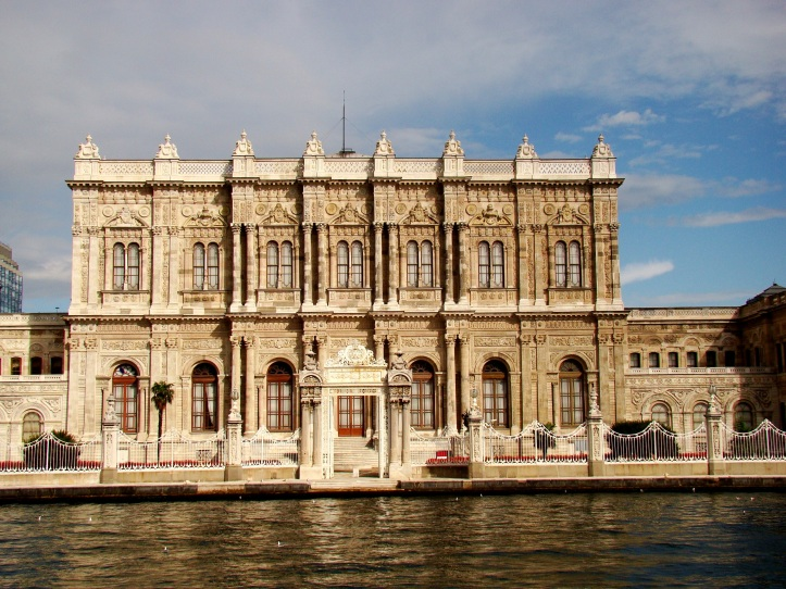 Dolmabahçe palace one of the many palaces on the Bosphorus shores.