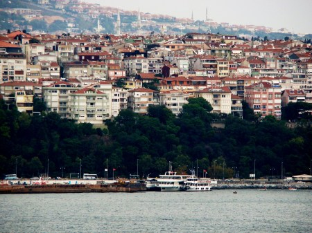 Beautiful views over the Bosphorus in Turkey