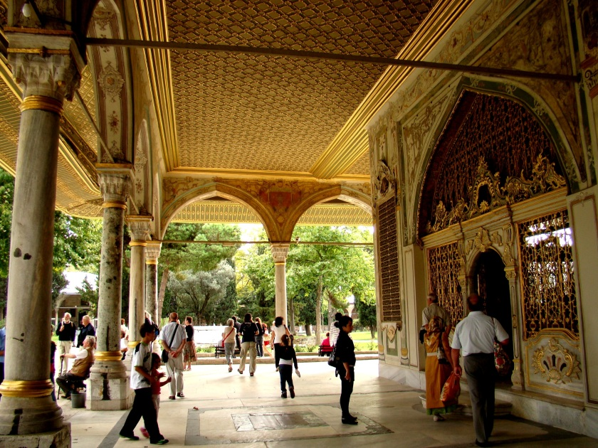 Porch outside the Imperial Divan