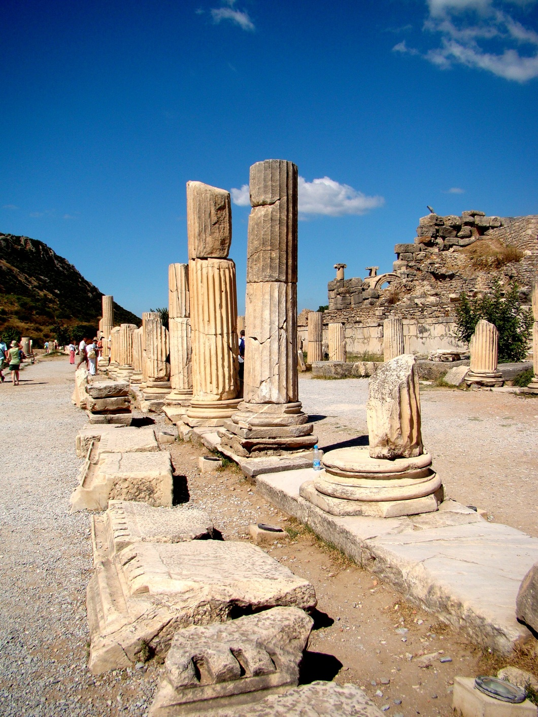 It is the road starting form the great theatre to the Celsus Library, which is the portion of the sacred way that leads past Panayirdagi to the Temple of Artemis.