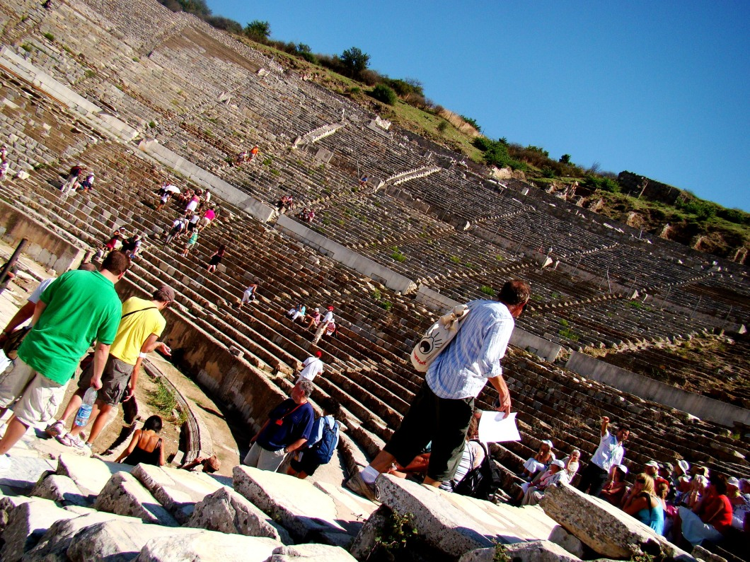 This is the most magnificent structure in Ephesus ancient city. The Great Theatre is located on the slope of Panayir Hill, opposite the Harbor Street