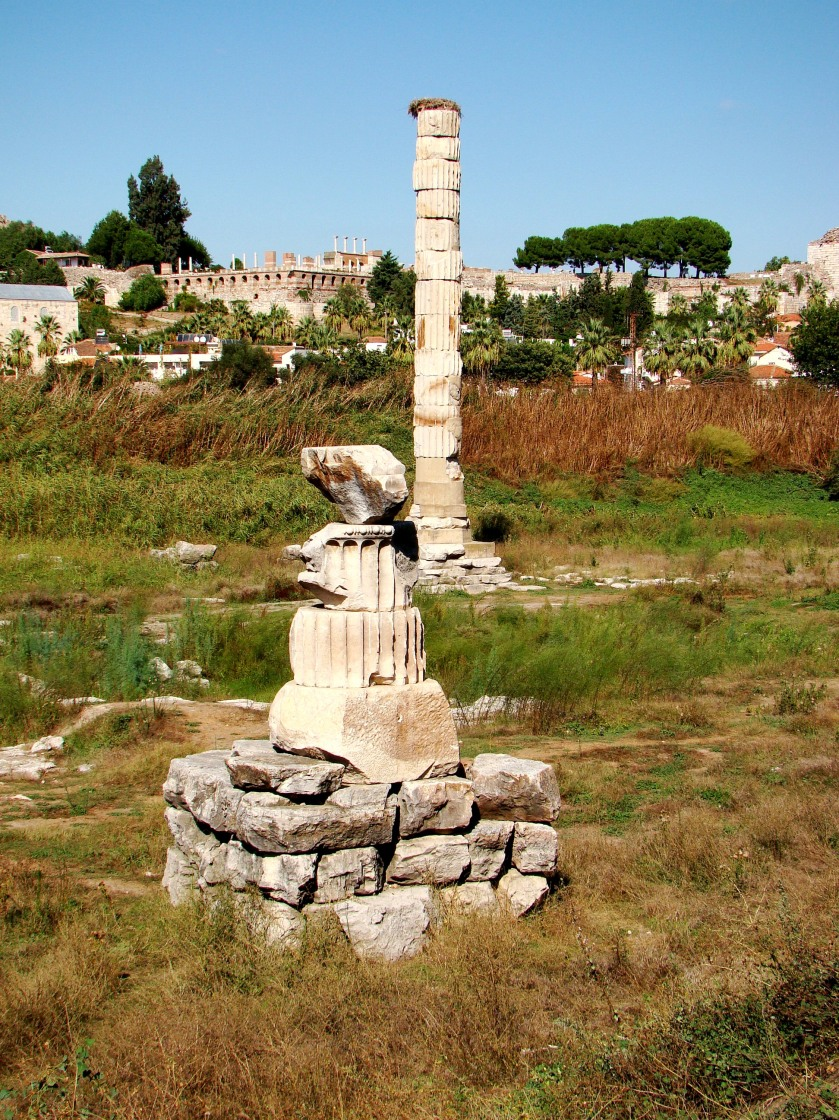 Site of the Temple of Artemis in the town of Selçuk, near Ephesus.