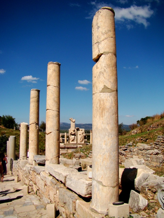 Street scene at the archeological excavations at Ephesus.