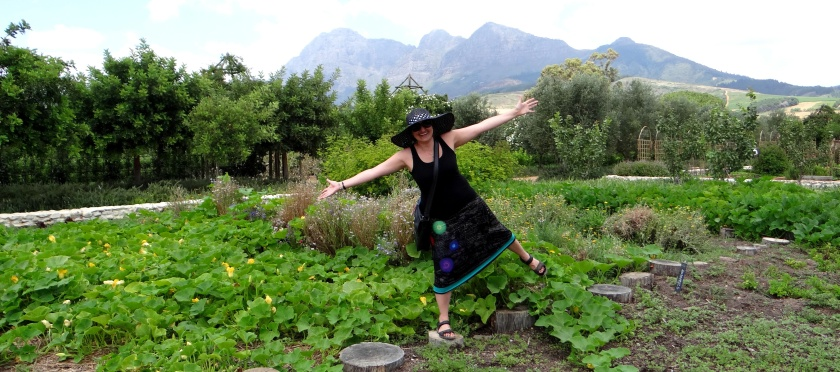 Me standing in the middle of the vegetable garden!