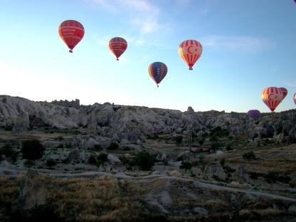Hot Air Ballooon ride in Cappadocia, Turkey