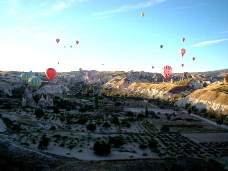 Hot Air Ballooon ride in Cappadocia, Turkey