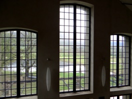 Colonial style windows found in Saronsberg Winery