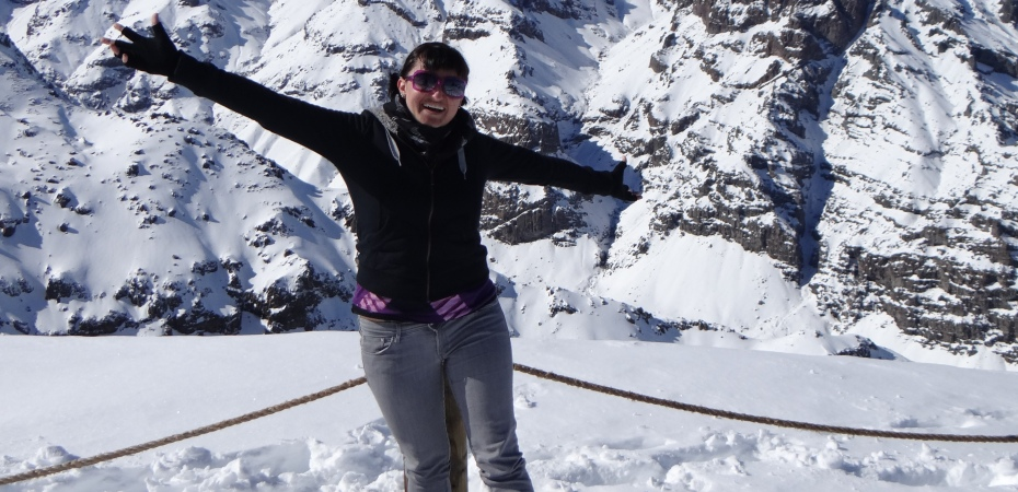 On top of the Andes in Chile