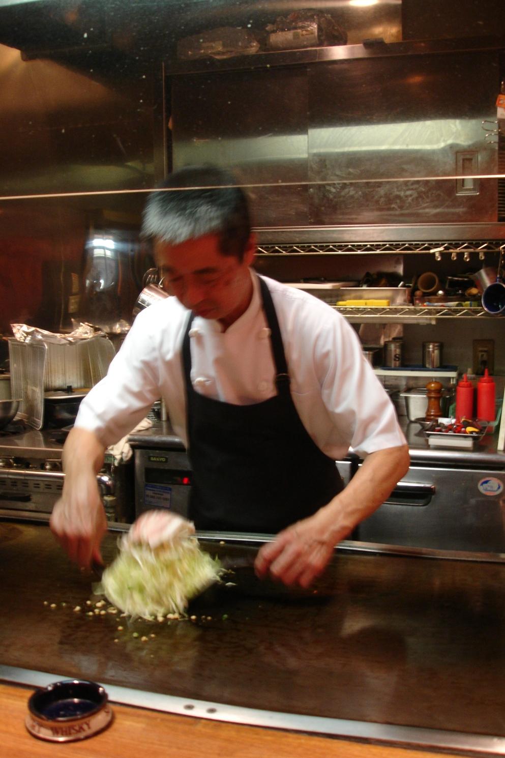 okonomiyaki is made with shredded cabbage