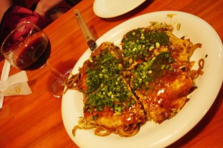 Okonomiyaki, a Japanese savoury pancake