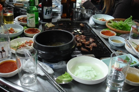 Eating out in Jeonju, South Korea