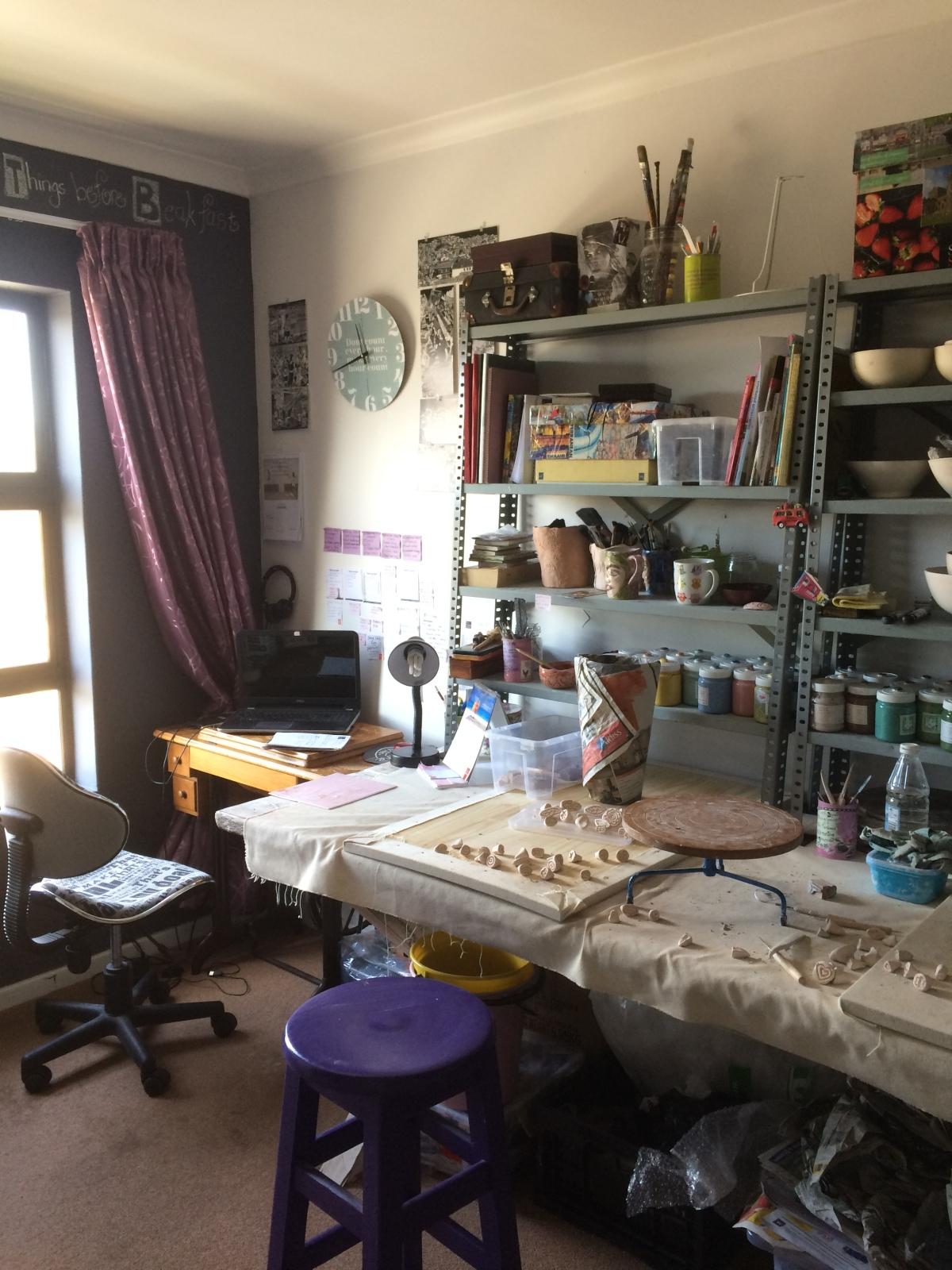 Janaline created an art studio athome
