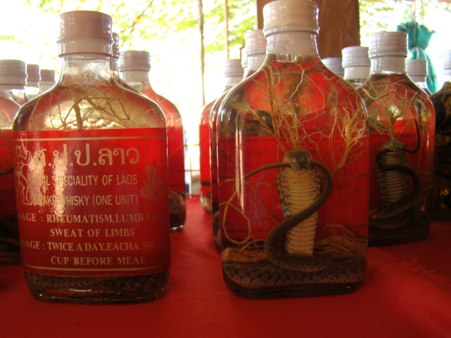 Venomous snake wine