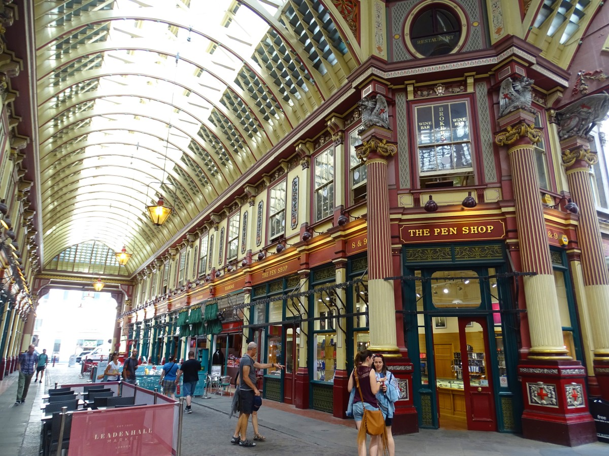 Leadenhall Market, the film location of Diagon Alley