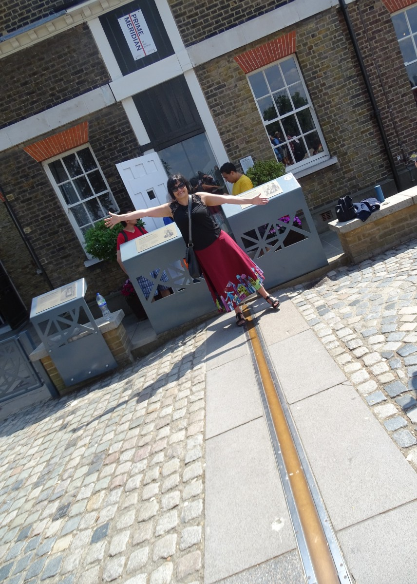 Greenwich Meridian Line where east meets west