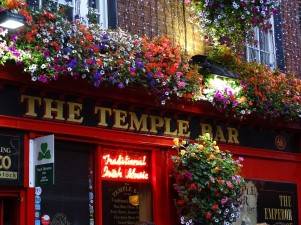The famous Temple bar district of Dublin